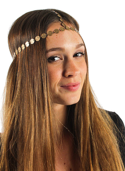 Antique gold coin headpiece - Me - BeHoneyBee.com - 1