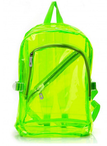Neon Jelly Beach Backpack - Me - BeHoneyBee.com - 1