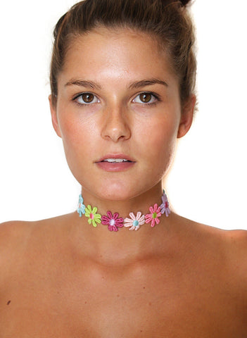Flower Power Choker Necklace - BeHoneyBee - BeHoneyBee.com - 1