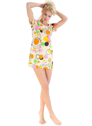 60s Psychedelic Party Dress - Vintage - Vintage - BeHoneyBee.com - 1