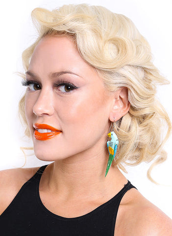 Vintage Parrot Earrings - Me - BeHoneyBee.com