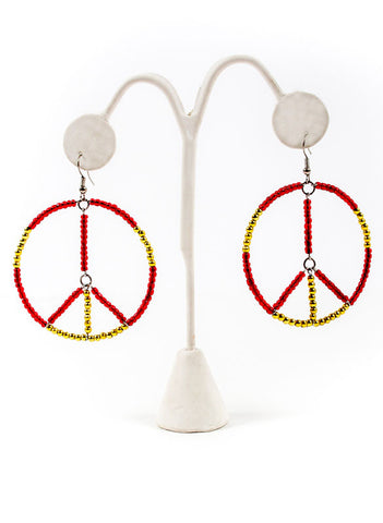 Peace Dangle Earrings - Me - BeHoneyBee.com