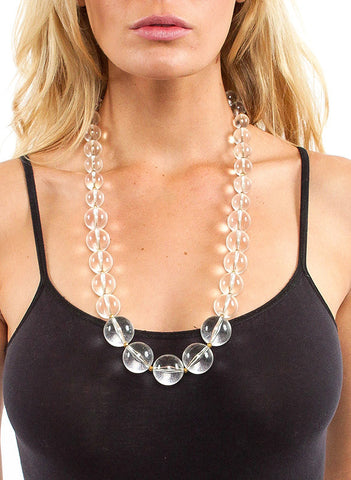 Vintage Clear Pearl Necklace - Me - BeHoneyBee.com