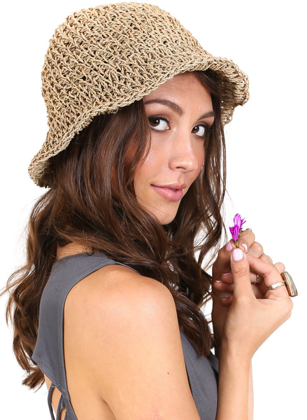 Straw Bucket Hat - Great for Summer | BeHoneyBee