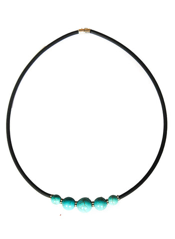 Magnetic Turquoise Choker - BeHoneyBee.com - New & Vintage Pieces for your Home and Closet - BeHoneyBee.com