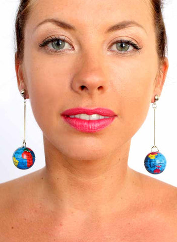 World on a Stick! Earrings - Me - BeHoneyBee.com - 1