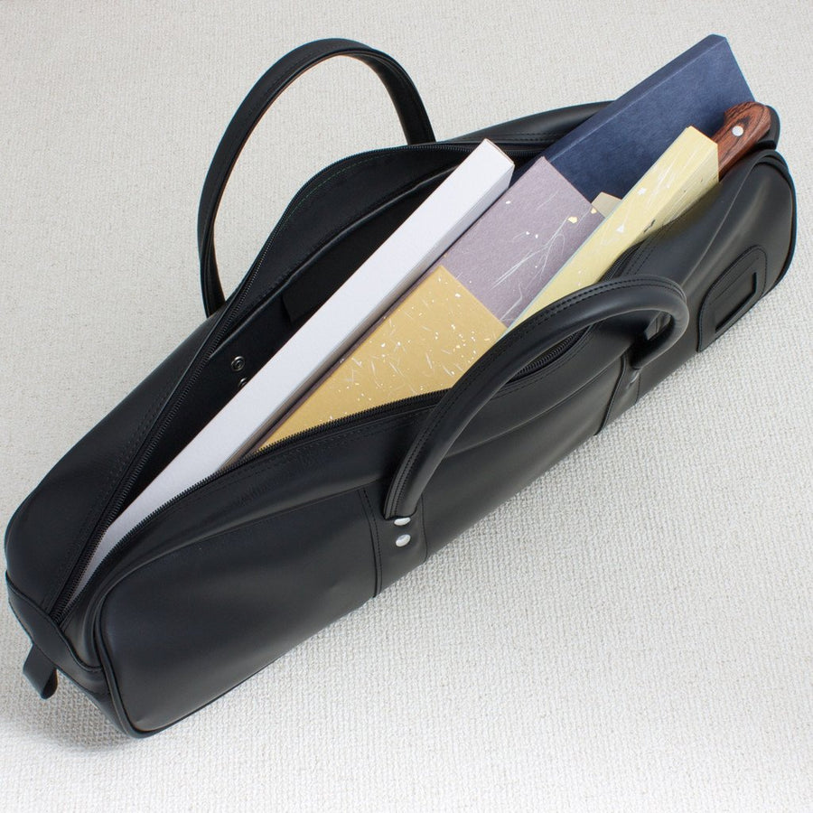 Black Synthetic Leather Knife Bag