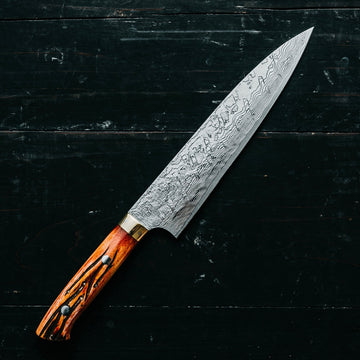 Saji Takeshi R2 Diamond Damascus Gyutou 210mm (8.2