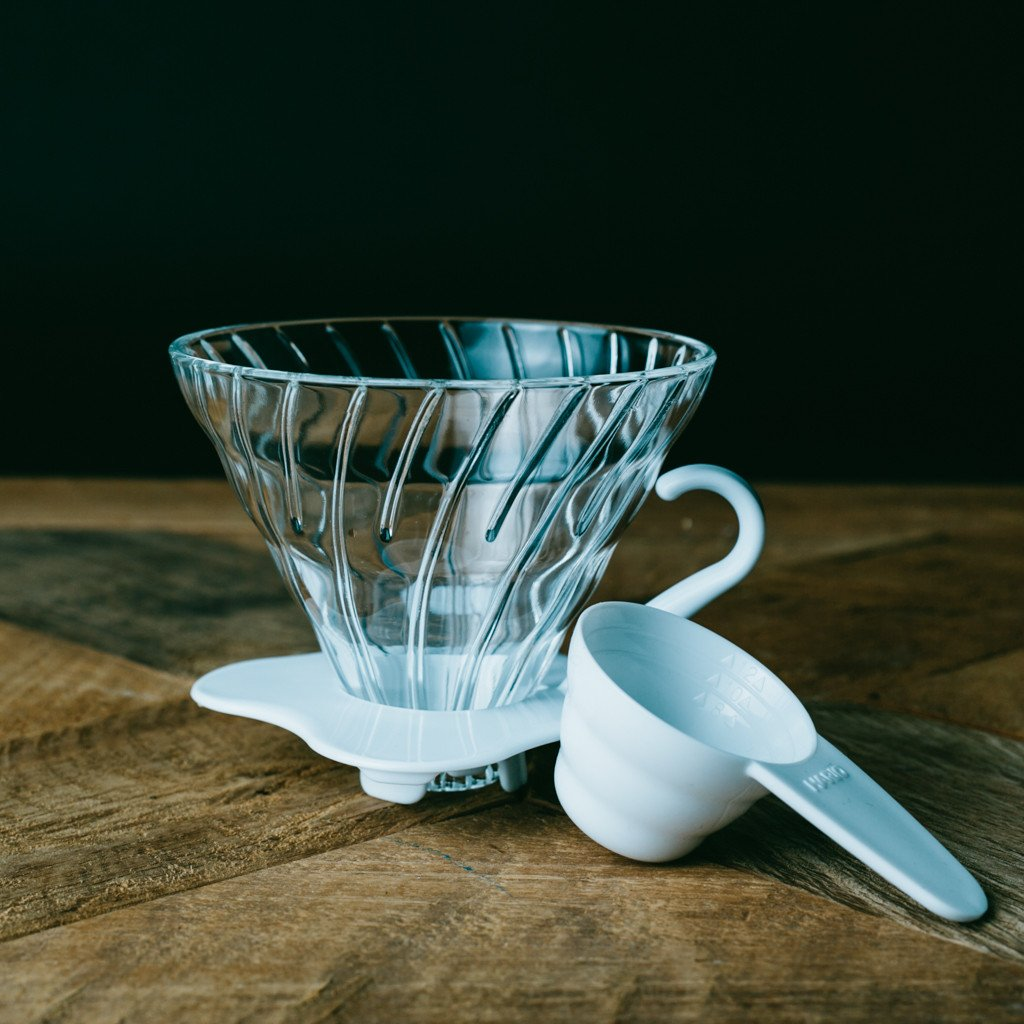 V60 Glass Dripper- white