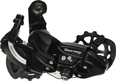 Shimano Tourney RD-TY500-SGS Rear Derailleur - 6,7 Speed, Long Cage, Black, Shimano Rear Direct Mount