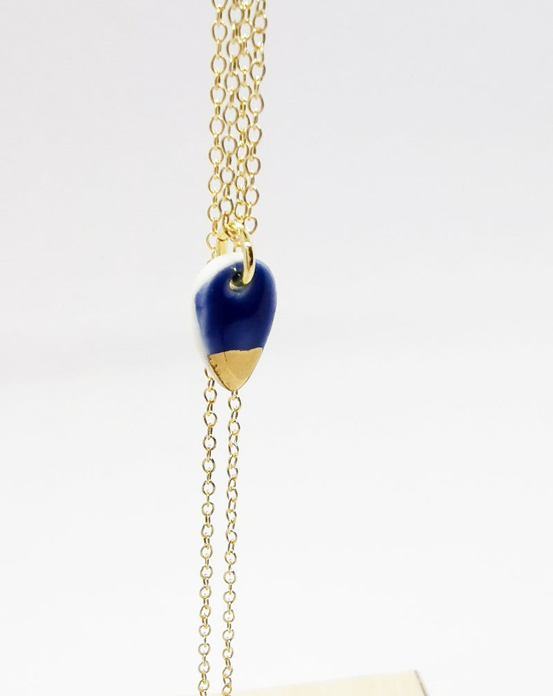 Blue drop necklace-Smykker-MEM design-noia.shop