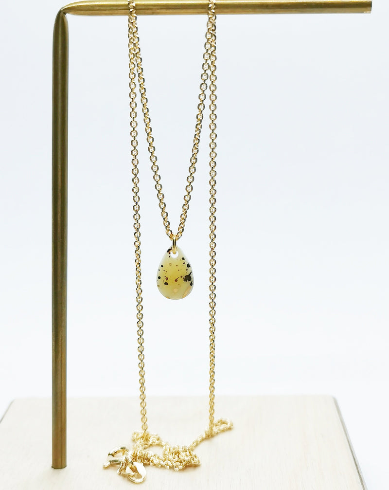 Splash gold yellow necklace