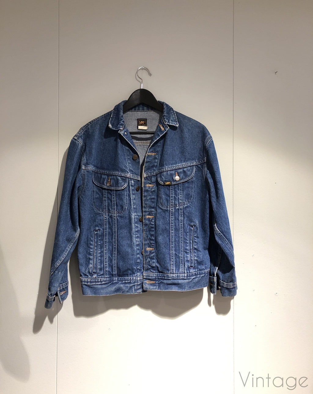 Lee denimjakke, størrelse M/L Denimjakke Second chance