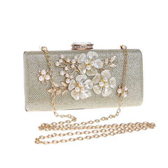 2019 NEW Lady's Hand Bag Pearl Evening Bag Lace Rose Dinner Bags