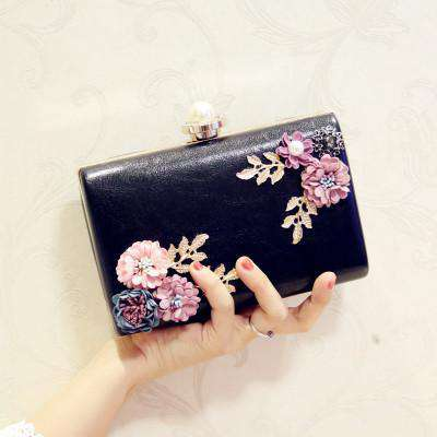 2019 NEW Lady's Evening Bag Flower Dinner Bags Rose Party Handbag