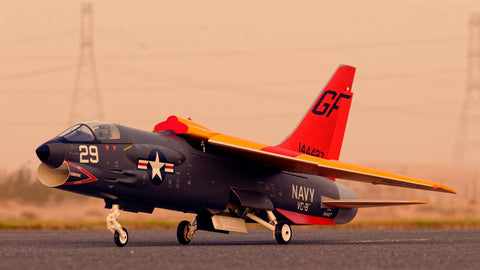 F-8E Crusader display model