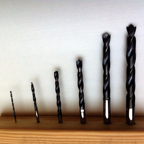 Aerospace carbide diamond coated brad point carbon/kevlar drills