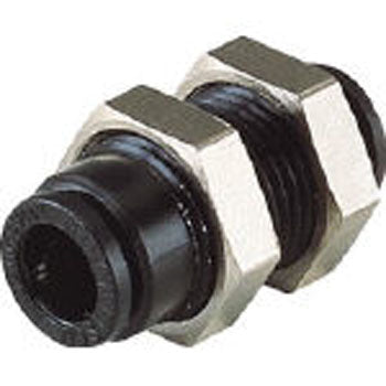 "Pisco ""Hiflow"" series push-to-connect bulkhead fitting"
