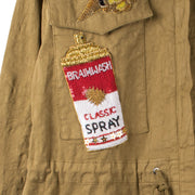 "Army Parka ""Lodi Spray"" - olive (detail application 1)"