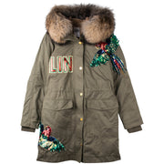 "Army Parka ""Paddy"" - olive (front)"