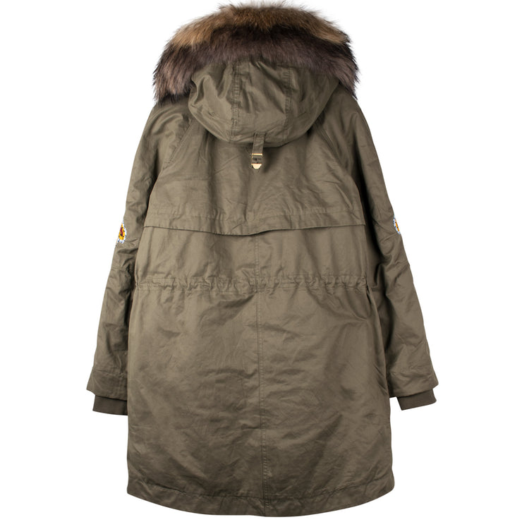 "Army Parka ""Pony"" - olive (back)"