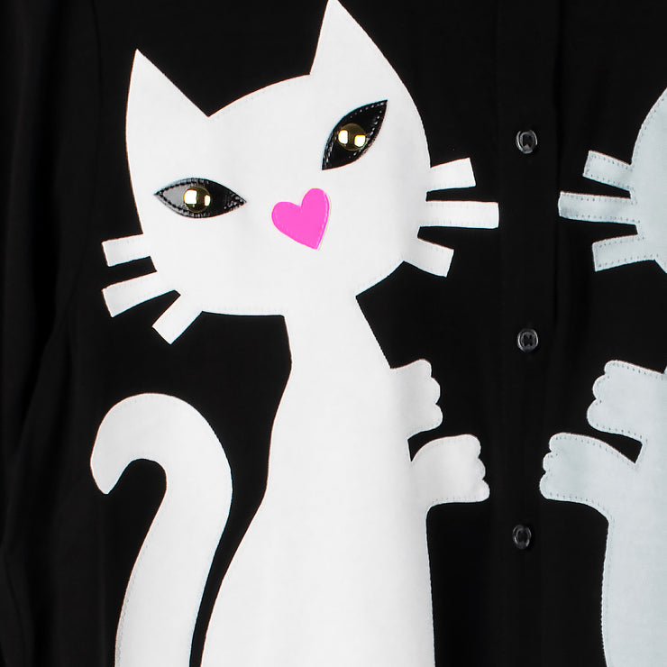 "Blouse ""Kitten"" - black (detail application)"