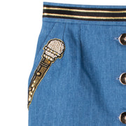 "Denim Skirt ""Microphone"" - blue"