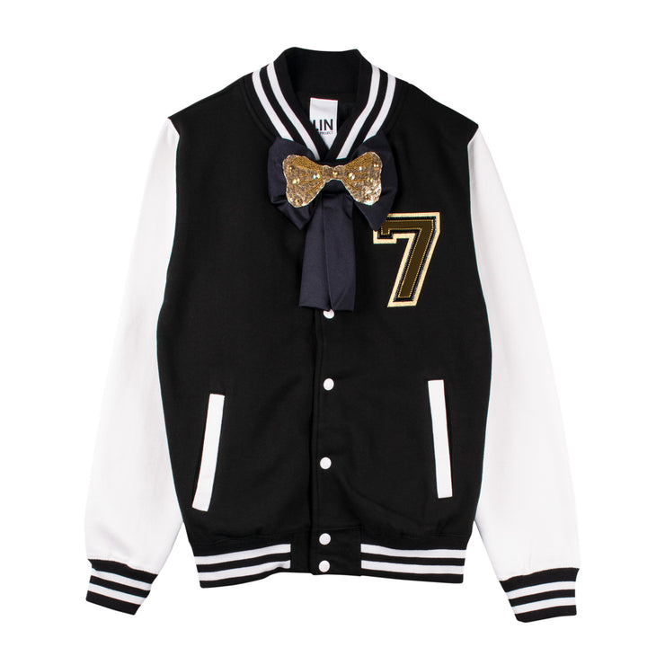 "Jacket ""Poppa"" - black/white (front)"