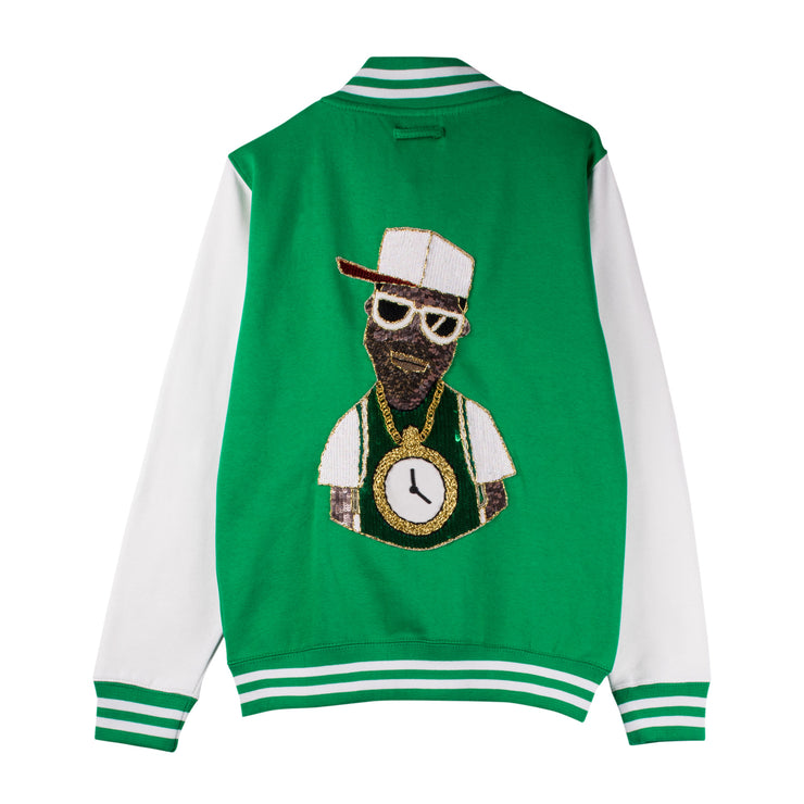 "Jacket ""The Hot 1"" - green/white (back)"