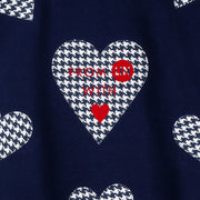 "Long Sweat ""Blue Hearts"" - dark blue (detail applications)"