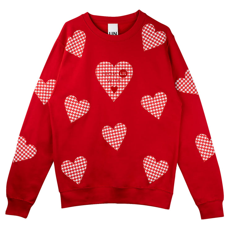 "Long Sweat ""Red Hearts"" - red"