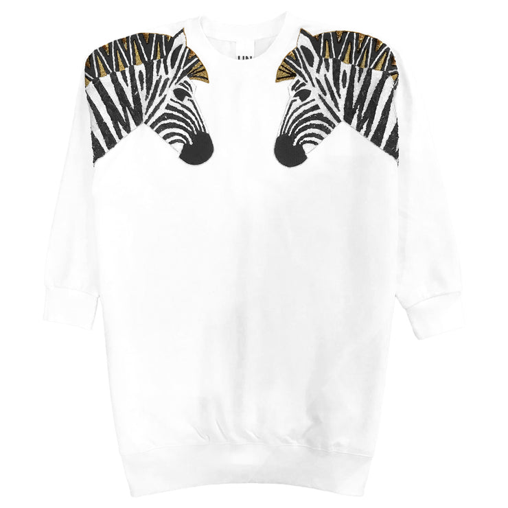 "Oversize Sweat ""Zebra SET"" - white"