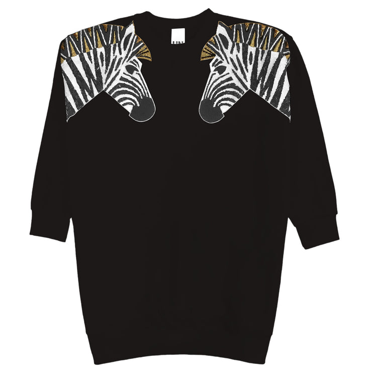 "Oversize Sweat ""Zebra SET"" - black"