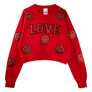 "Short Sweat ""Love Smile"" - red"