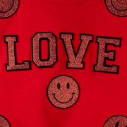 "Short Sweat ""Love Smile"" - red (detail)"