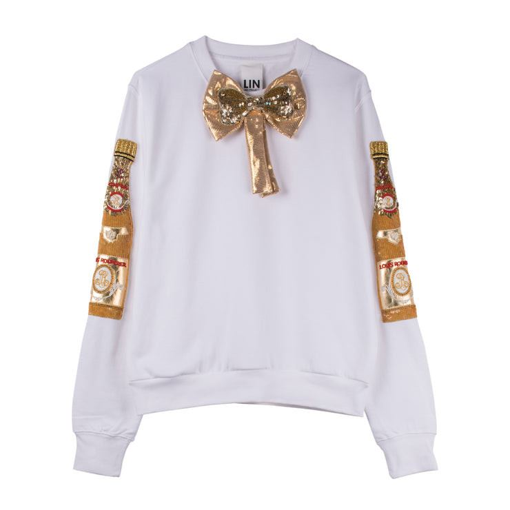 "Sweatshirt ""Cristal SET"" - white"