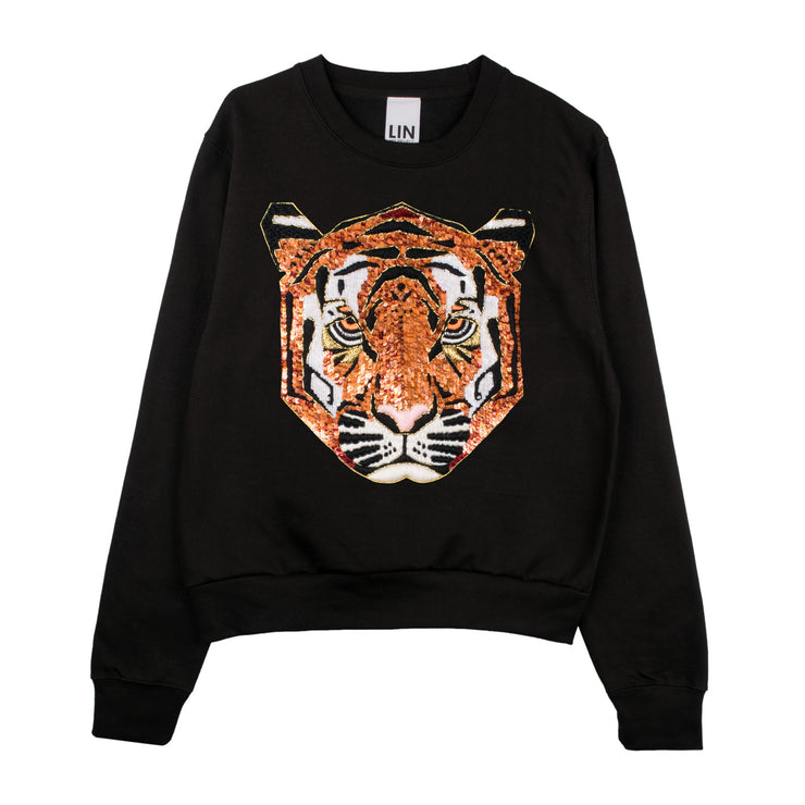 "Sweatshirt ""Tiger"" - black"