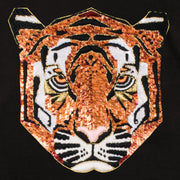 "Sweatshirt ""Tiger"" - black (detail application)"