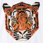 "Sweatshirt ""Tiger"" - white (detail application)"