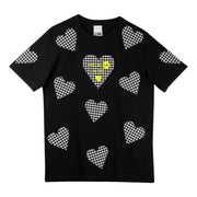 "T-Shirt ""Black Hearts"" - black"