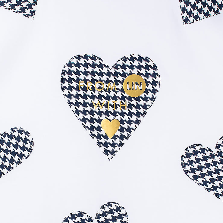 "T-Shirt ""Blue Hearts"" - white (detail)"