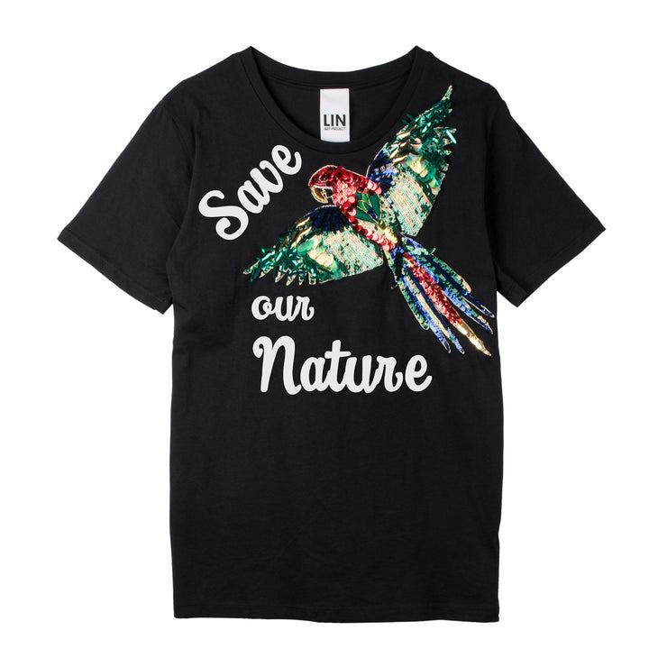 "T-Shirt ""Save our Nature"" - black"