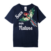 "T-Shirt ""Save our Nature"" - blue"