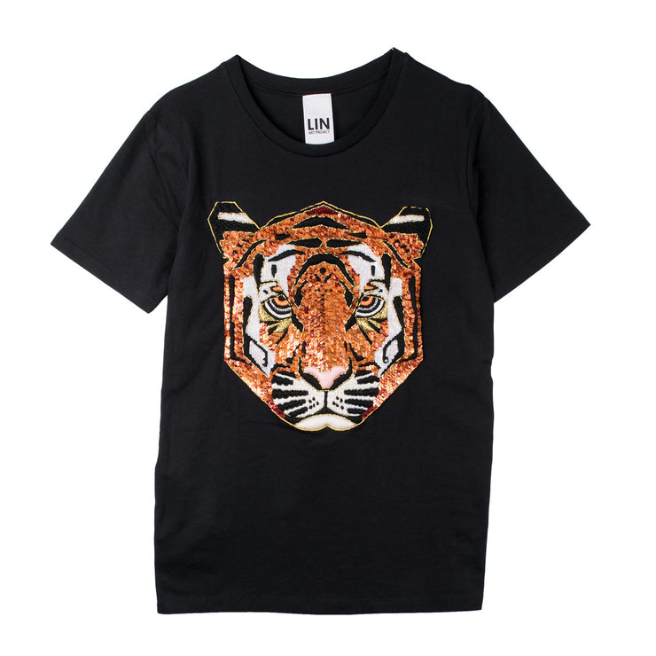 "T-Shirt ""Tiger"" - black"