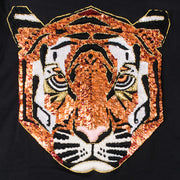 "T-Shirt ""Tiger"" - black (detail application)"