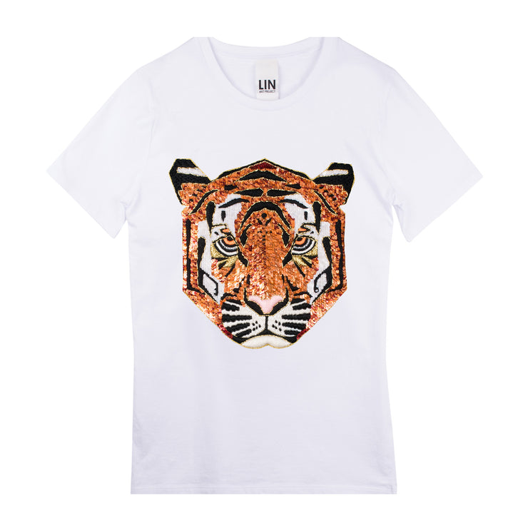 "T-Shirt ""Tiger"" - white"