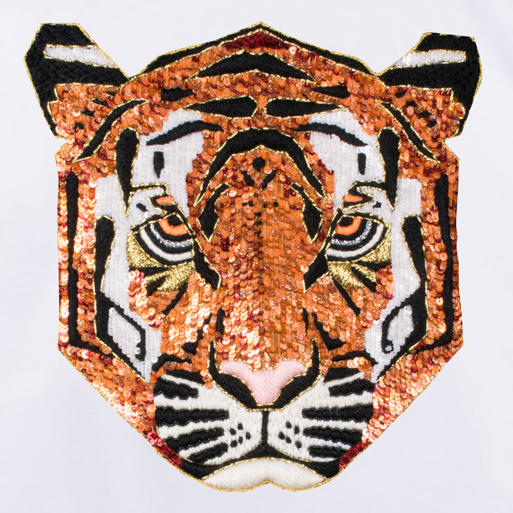 "T-Shirt ""Tiger"" - white (detail application)"