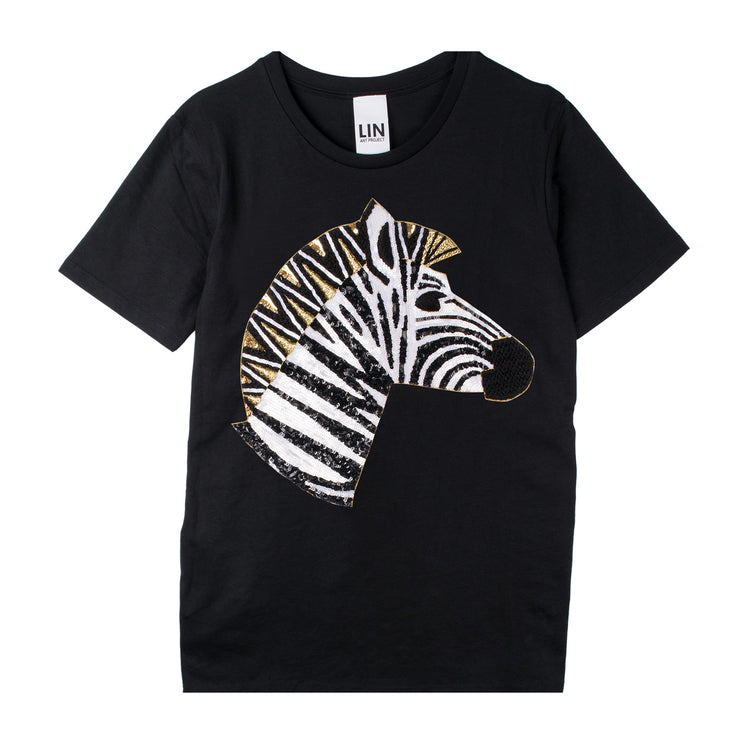 "T-Shirt ""Zebra"" - black"