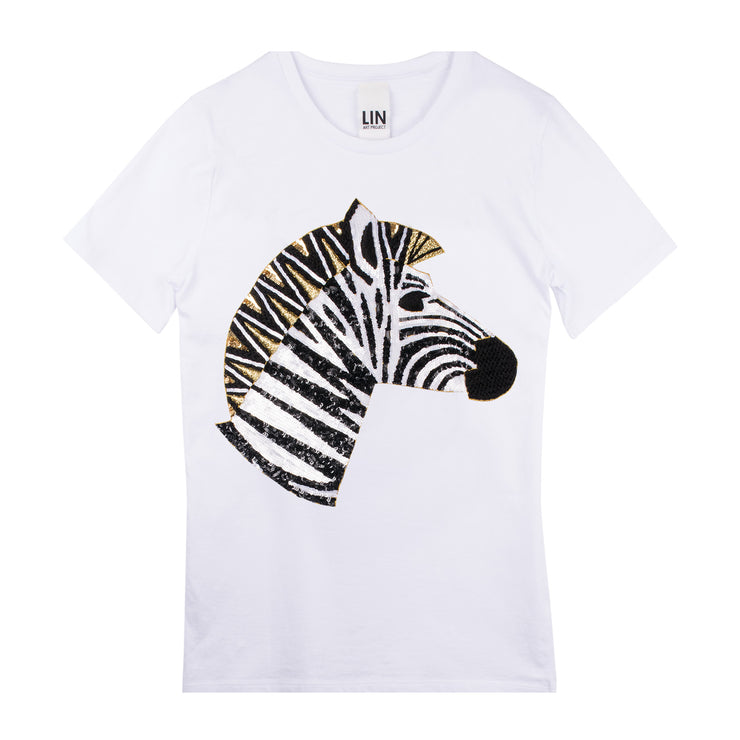 "T-Shirt ""Zebra"" - white"
