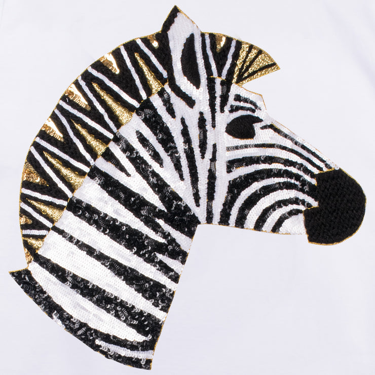 "T-Shirt ""Zebra"" - white (detail application)"